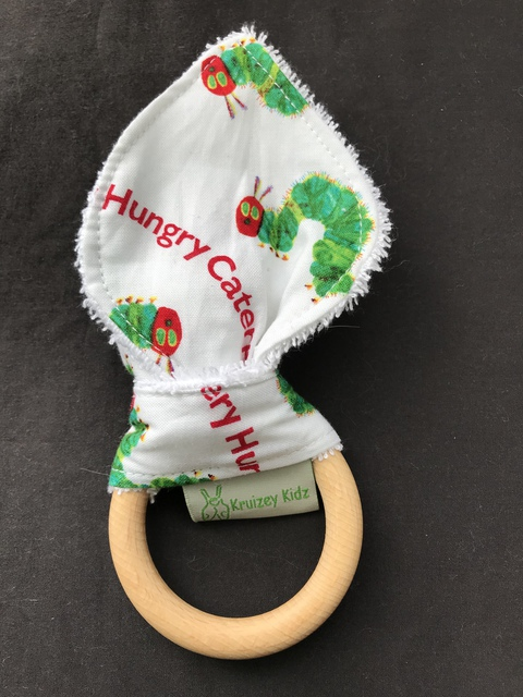 Organic Teething Ring with Bunny Ears