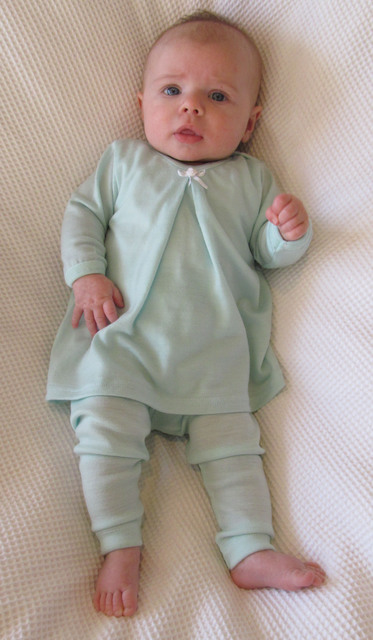 Our New Mint Merino being Modelled By Harper